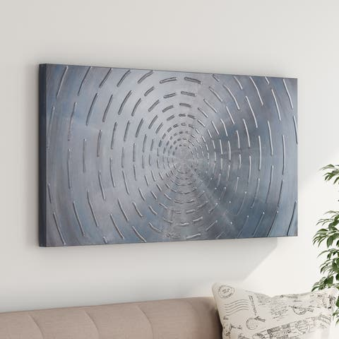 Carbon Loft 'Circles' Hand-painted Wood Wall Art Decor