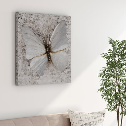 Carson Carrington Modern Abstract Butterfly Oil Painting