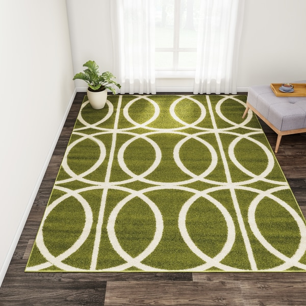 Shop Carson Carrington Koge Green Cream Area Rug On