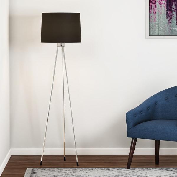 Carson Carrington Vasteras Black 3-legged Floor Lamp