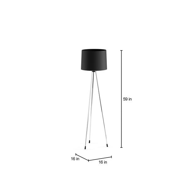 Shop Strick Bolton June Black 3 Legged Floor Lamp Free