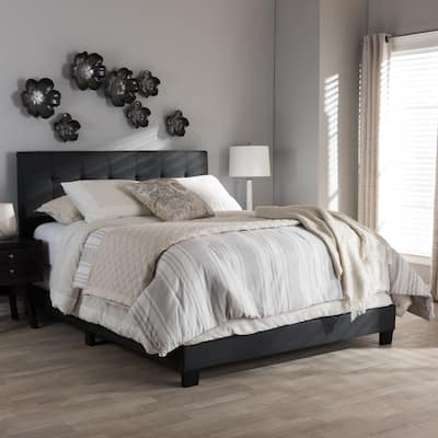 Porch & Den Bayview Charcoal Grey Upholstered Bed