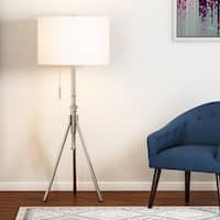 Carson Carrington Vasteras Adjustable Brushed Steel Tripod Floor Lamp