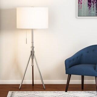 Carson Carrington Vasteras Adjustable Brushed Steel Tripod Floor Lamp