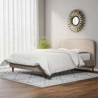 Carson Carrington Karlstad Mid-century Fabric Upholstered Platform Bed