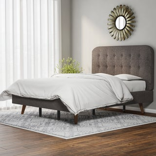 Carson Carrington Dalvik Mid-century Upholstered Queen-size Platform Bed