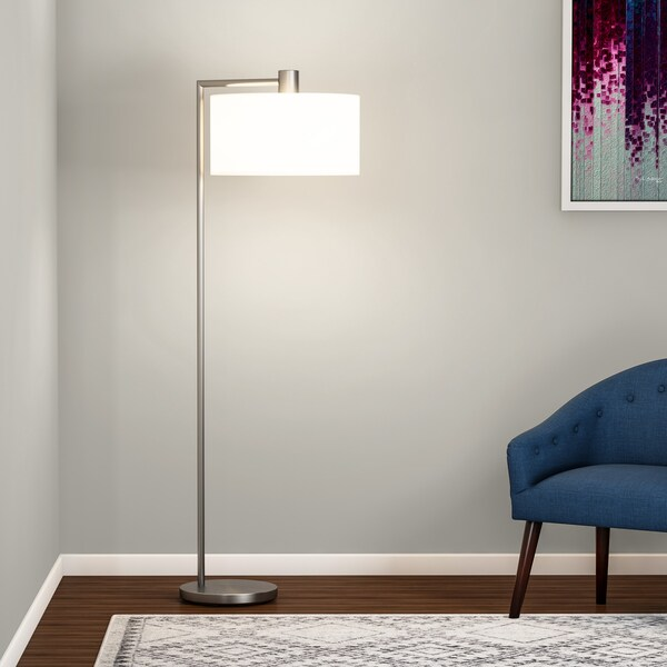Carson Carrington Helsingor Brushed Steel Floor Lamp