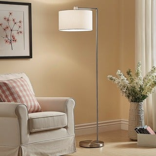 Strick & Bolton Ohlson Brushed Steel Floor Lamp