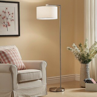 Strick & Bolton Ohlson Brushed Steel Floor Lamp