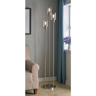 Strick & Bolton Mosley Brushed Steel 73-inch Torchiere