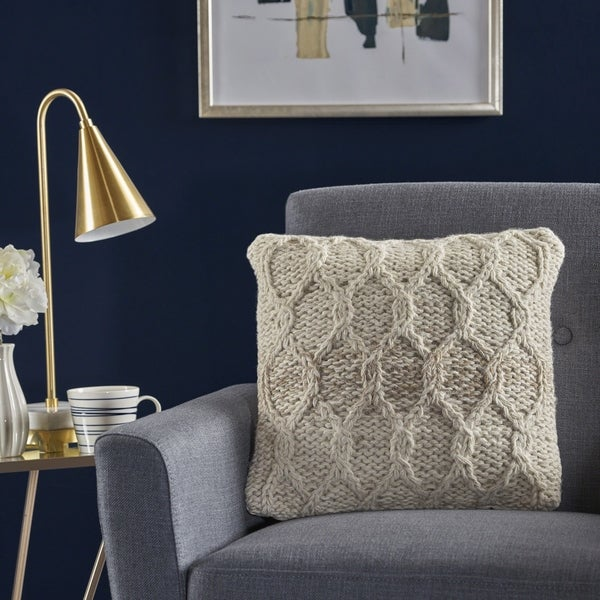 Tylan Square Wool Pillow by Christopher Knight Home