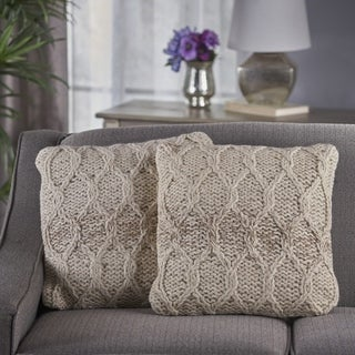 Tylan Square Wool Pillow (Set of 2) by Christopher Knight Home