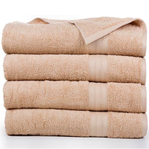 Economic Collection Cotton Soft Oversized Bath sheets (4 Pack)