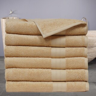 Economic Collection Plush Cotton Bath Towel (6 Pack) (Option: Beige)