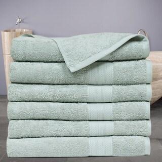 Economic Collection Plush Cotton Bath Towel (6 Pack) (Option: Jade)