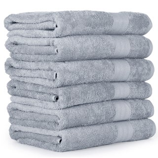 Economic Collection Plush Cotton Bath Towel (6 Pack)