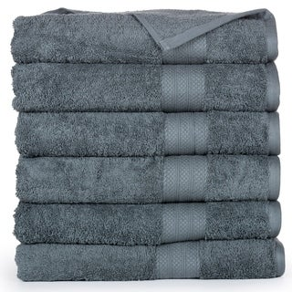 Economic Collection Plush Cotton Bath Towel (6 Pack) (More options available)