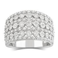 Divina Sterling Silver 3/4ct TDW Diamond Anniversary Ring