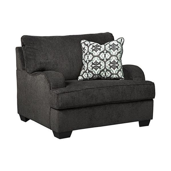 Ordinaire Charenton Contemporary Charcoal Oversized Chair
