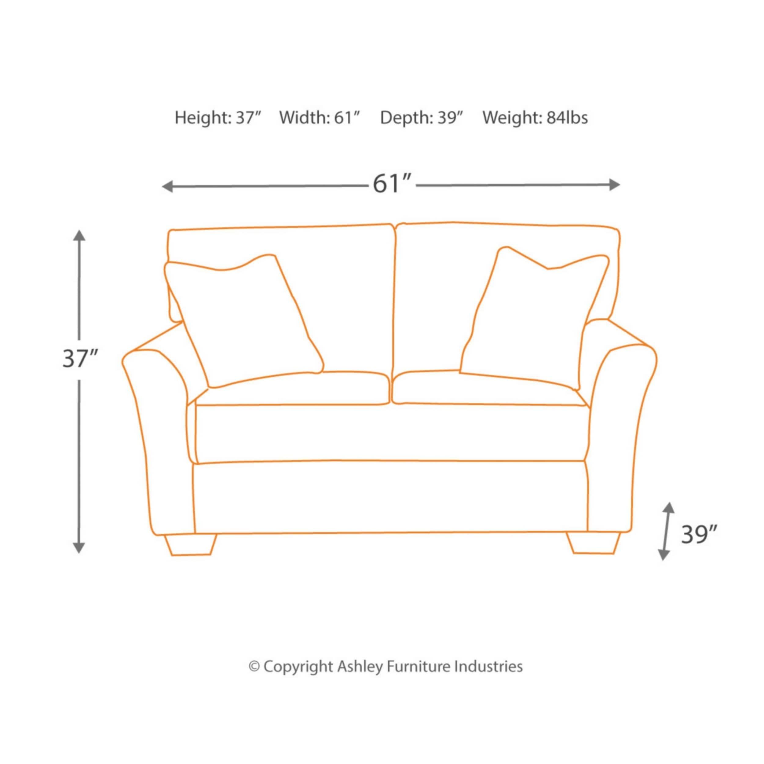 Admirable Tibbee Contemporary Loveseat Gray Bralicious Painted Fabric Chair Ideas Braliciousco