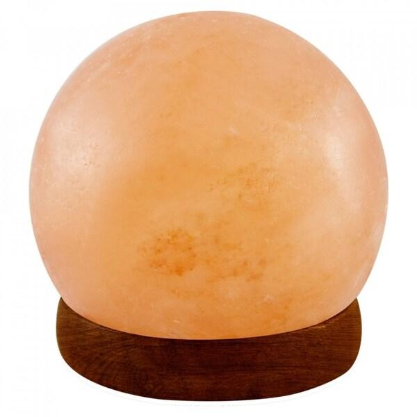 LED USB Lamp Ball Shape Pure Himalayan Crystal Rock Pink Salt