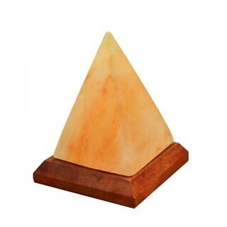 LED USB Lamp Pyramid Shape Pure Himalayan Crystal Rock Pink Salt