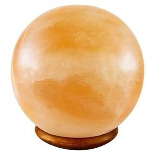 Himalayan Crystal Pink Salt Lamp Decorative Ball Shape Table Lamp - Amber