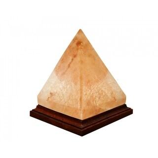 Himalayan Crystal Pink Salt Lamp Decorative Pyramid Shape Table Lamp