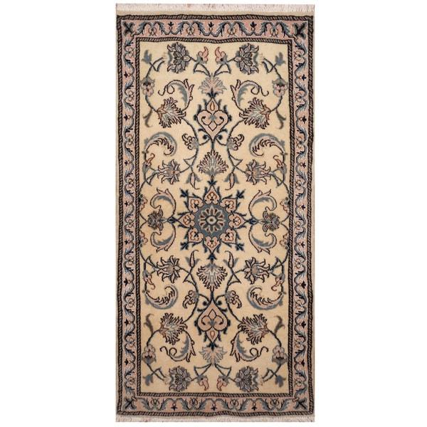 Persian Hand Knotted Nain Wool And Silk Area Rug Ebth: Shop Handmade Herat Oriental Persian Hand-knotted Nain