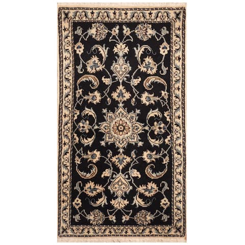 Handmade One-of-a-Kind Nain Wool and Silk Rug (Iran) - 2'3 x 4'1