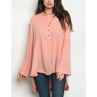 JED Women's Relax Fit Bell Sleeve Tunic Shirt (More options available)