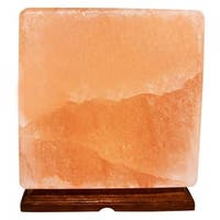 Himalayan Crystal Pink Salt Lamp Decorative Cube Shape Table Lamp