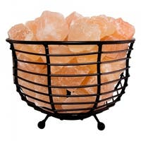 Himalayan Natural Salt Air Purifying Bowl Style Mesh Basket Lamp