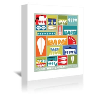 Americanflat 'My Cathrineholm Kitchen' Gallery Wrapped Canvas