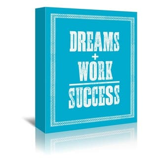 Americanflat 'Dreams Work Success' Gallery Wrapped Canvas