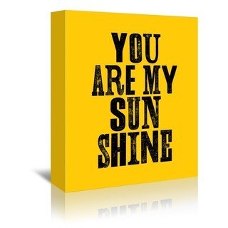 Americanflat 'You Are My Sunshine' Gallery Wrapped Canvas (4 options available)