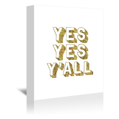 Americanflat 'Yes Yes Yall' Gallery Wrapped Canvas