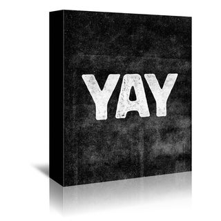 Americanflat 'Yay' Gallery Wrapped Canvas