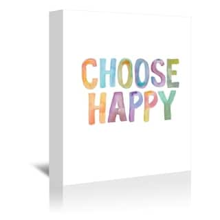 Americanflat 'Choose Happy' Gallery Wrapped Canvas
