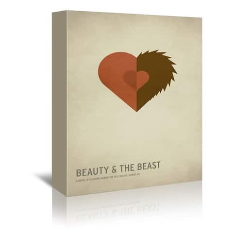 Americanflat 'Beauty and The Beast' Gallery Wrapped Canvas