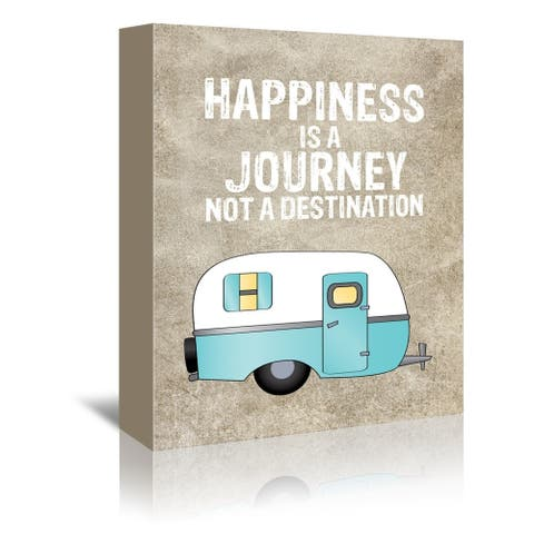 Americanflat 'Camper Happiness Is Journey' Gallery Wrapped Canvas