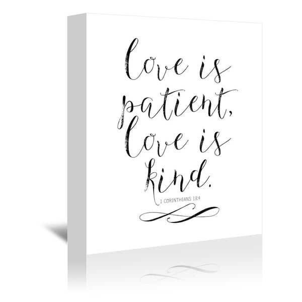 Shop Americanflat Love Is Patient Love Is Kind Chalkboard 01