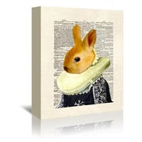 Americanflat 'Bunny Royal' Gallery Wrapped Canvas