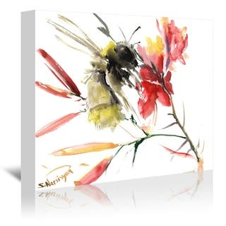 Americanflat 'Bee 3' Gallery Wrapped Canvas