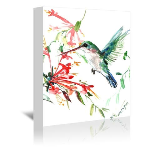 Americanflat 'Flying Hummingbird' Gallery Wrapped Canvas