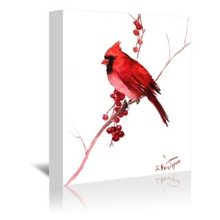 Americanflat 'Red Cardinal Bird' Gallery Wrapped Canvas