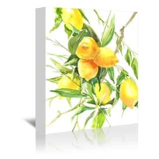 Americanflat 'Lemon Tree' Gallery Wrapped Canvas