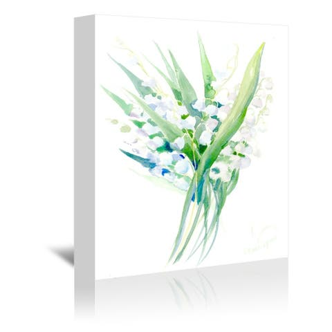 Americanflat 'Lilies of The Valley 2' Gallery Wrapped Canvas