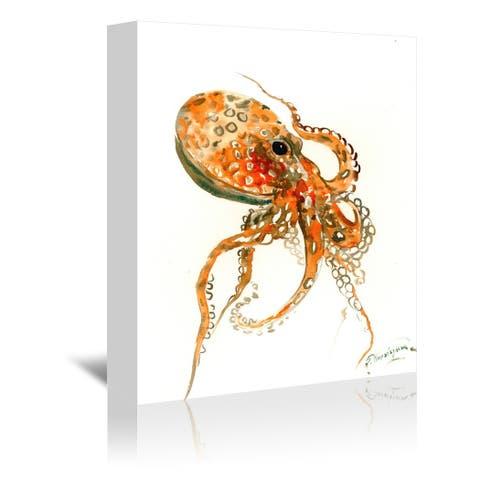 Americanflat 'Orange Octopus' Gallery Wrapped Canvas