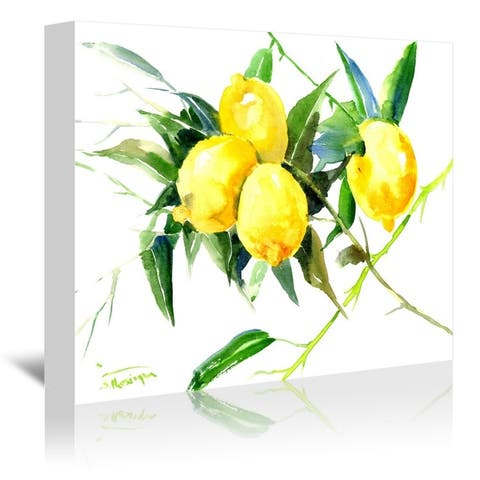 Americanflat 'Lemon Bunch' Gallery Wrapped Canvas